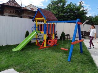 Terenuri de joacă pentru copii din lemn la comanda topogane, nisipieri , pavilione, căsuța !!!