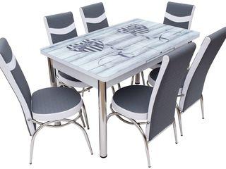 Set mg-plus kelebek twin crom (6 scaune) disponibil în credit,livrare gratuită !!