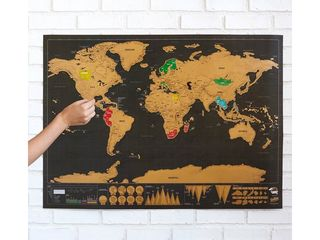 Скретч карта мира Deluxe Edition