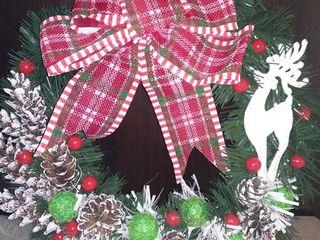 Decoratiuni pentru craciun hand made новогодний венок на дверь