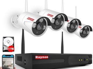 Видео наблюдение беспроводное + 4 HD Wi-fi камеры в комплекте!