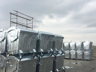 Оцинкованный контейнер для мусора от импортера Eximotor SA