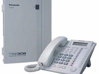 Атс panasonic KX TEB308 + телефон kx t 7730