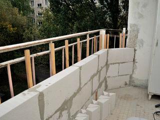 Расширение и переделка балконов 143-серии, кладка из газоблоков,ремонт балконов,окна пвх стеклопакет