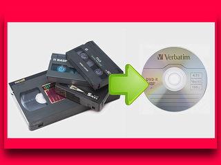 Перезапись-оцифровка видеокассет всех форматов на DVD диски с редактированием, ремонт видеокассет.