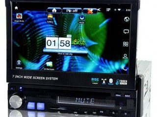 Автомагнитола pioneer s600 gps + tv 7 inch 1din gps+ usb+cd + dvd + tv+bt+ipod+camera. кредит!