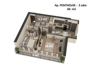 Apartament -2 odai - 27988 euro ! Proiect exclusiv ! Calitate exceptionala a constructiei !