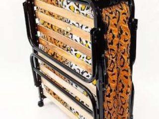 Новая кровать раскладушка ортопедическая 1650 лей с ватным матрасом на колёсиках с подголовником