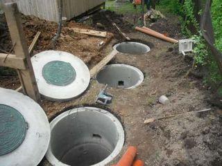 Tranșee, temeliii, canalizare, septicuri