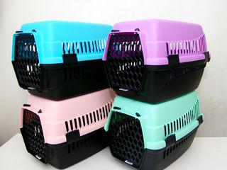 Бесплатная доставка! Красивые пастельные цвета! Переноска для кошек, собак, кроликов. Новая. 250 лей