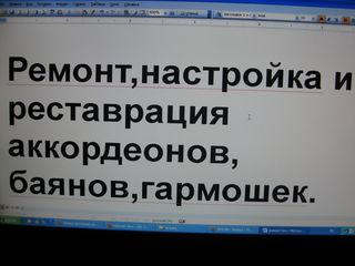 Ремонт и реставрация Аккордеонов. Баянов. Гармошек.