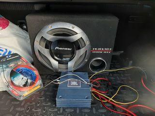 Буфер Pioneer 1200w +усилитель+новые провода 2500 лей