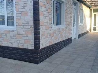 Fasada casei cu panele de fasada Docke ,incalzire cu vata minerala.