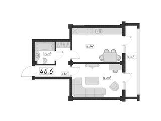 Apartament în casă nouă. 47 m2 - 20690 eur