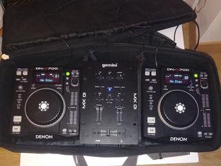 DJ-проигрыватель Denon DN-S700 + Gemini MX 01