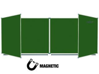 Tabla scolară magnetică cu 6 suprafețe. Доска для мела магнитная раскладная с шестью поверхностями.