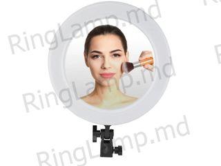 Кольцевая лампа для макияжа с держателя для телефона на 26 см с зеркалом+штатив 2,1м +подарок