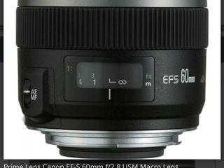 Canon EFS 60 mm f/2.8 Macro USM