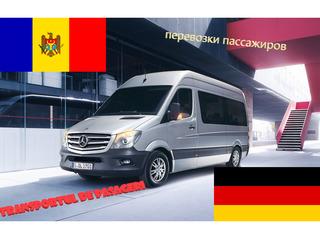 Germania-Moldova zilnic Moldova-Germania zilnic transport pasageri 24/24 7locuri/2soferi