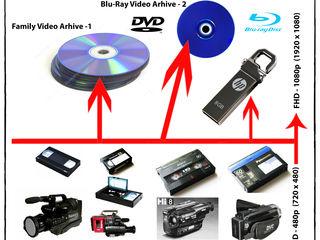 Оцифровка-перезапись всех видеоформатов с переводом качечтва видео с SD в FHD на аппаратном уровне.