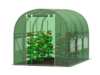 Теплица/solar/sera pentru gradina cu ferestre laterale, cadru metalic, dimensiuni diferite/livrare