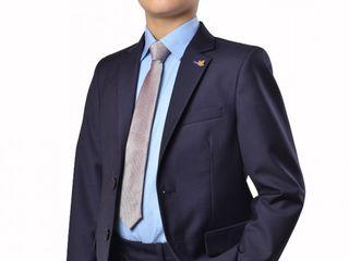 Школьный костюм /9 - 10 лет/ синий /пиджак + брюки.