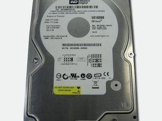 "3.5"" HDD 160GB WD Caviar IDE/2MB/7200rpm WD160BB без бэдов =150лей. Гарантия 1 месяц."