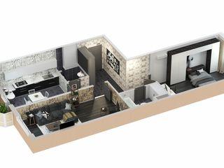 Двухкомнатная квартира 46 м2 = 16 000 евро