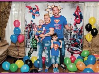 Fotopanou , fotostand , baner ca decor cu baloane pentru nunta , cumetrie , zi de nastere , botez