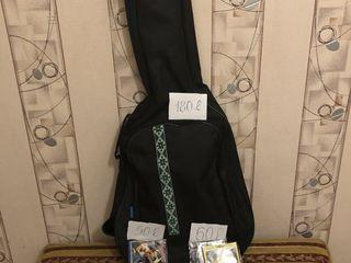 Чехол, струны, колки для гитары, мостик для скрипки