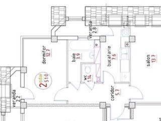Apartament  50 mp  2 camere