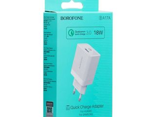 Quick Charge Borofone (B)a17a + Cable Borofone (B)u8 Type-C Lightning Micro-USB
