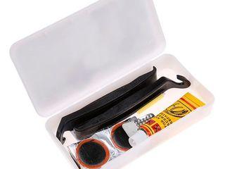 Наборы для заклейки велосипедных камер (ремкомплект), заплатки, клей