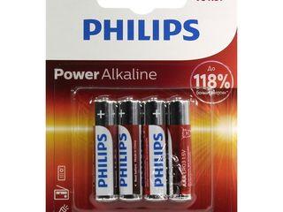 Baterii philips +118% Power Alkaline LR03P4B/51, батарейки