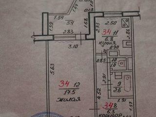 Продается 1-комнатная квартира на БАМе 9/9 в жилом состоянии