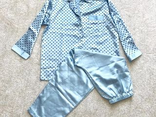 Pijamale noi subtiri (albastra si alba)  S M L. Пижама летняя