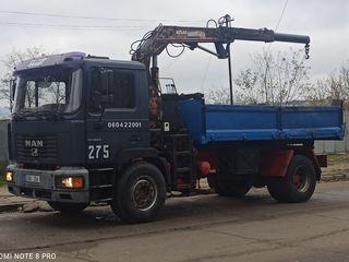 Prestez servicii de transport (pin la 10 tone), manipulator+basculanta (манипулятор + самосвал)
