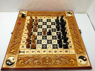 нарды резные шахматы*Инь Янь*эксклюзив