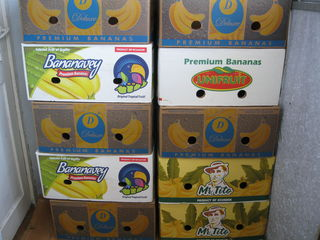Банановые коробки. Cutii banane. Пластмассовые Ящики, Тара, Lazi, Ladite pentru fructe si legume.