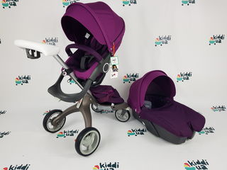 Новая детская коляска Dsland v4 2в1 фиолетовая аналог stokke