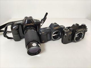 Canon T90 + Canon T70 + Canon AE1 pentru colectie