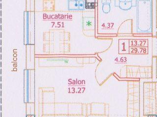 Apartament 1 camera 30 m2 -9000