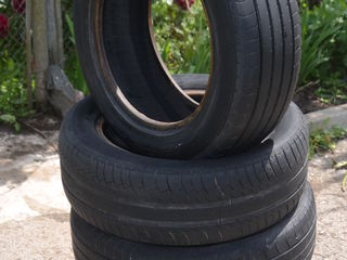 4 летние шины, б/у, 2 Michelin Energy_205/55/R16; 2 Dunlop Sp Sport 200_205/60/R16