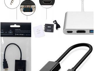 Переходники-адаптеры   HUB USB Type C(ТИП С )- TO HDMI/ VGA/USB3.0/RJ-45/HUB