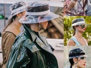 Модная прозрачная панама-шляпа !!!