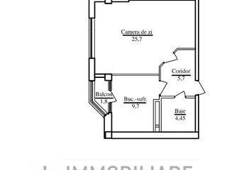 Apartament cu 1 cameră, sect. Buiucani, str. Calea Ieșilor, 760 €/mp