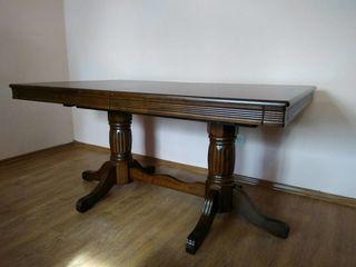 Мощные раздвижные столы из натурального дуба с металлическим механизмом. Возможен кредит!