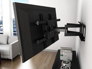 Крепление телевизора на стену , установка кронштейна .