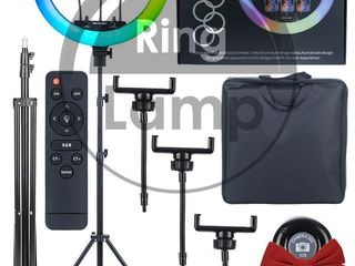 Инновационная кольцевая лампа 45 см (многоцветная) rgb +подарок