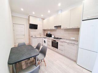 Gazda apartament cu 3 camere in bloc nou full mobilat si dotat cu tehnica!350€